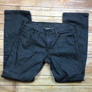 🔴3/$25 Levi's 514 Dark Grey Denim Jeans